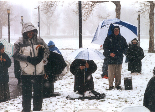 April 9, 2000 Sunday Holy Hour during driving snow storm