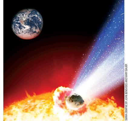 asteroid hitting the sun - photo #5