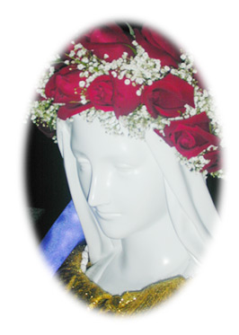 Our Lady of the Roses Shrine statue